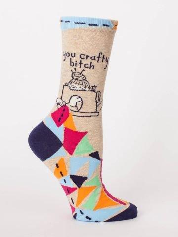 Blue Q Women's Socks - You Crafty Bitch