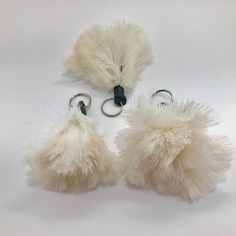 Ostrich Feather Tassel - Cream