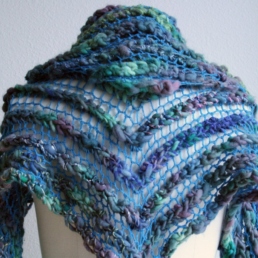 Crocheted Handspun Wiggle Shawl Pattern - PDF
