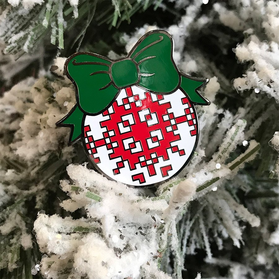 Christopher Straub Enamel Pin - Christmas Ball