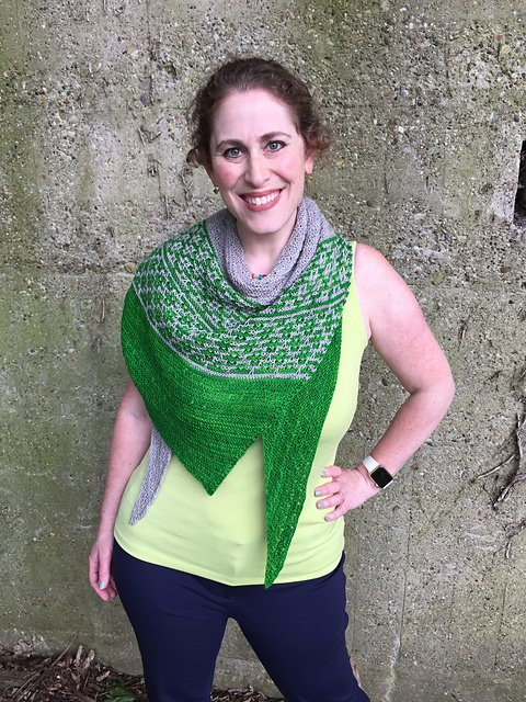 Brew City Yarns Emeliana Shawl Kit - Slytherin