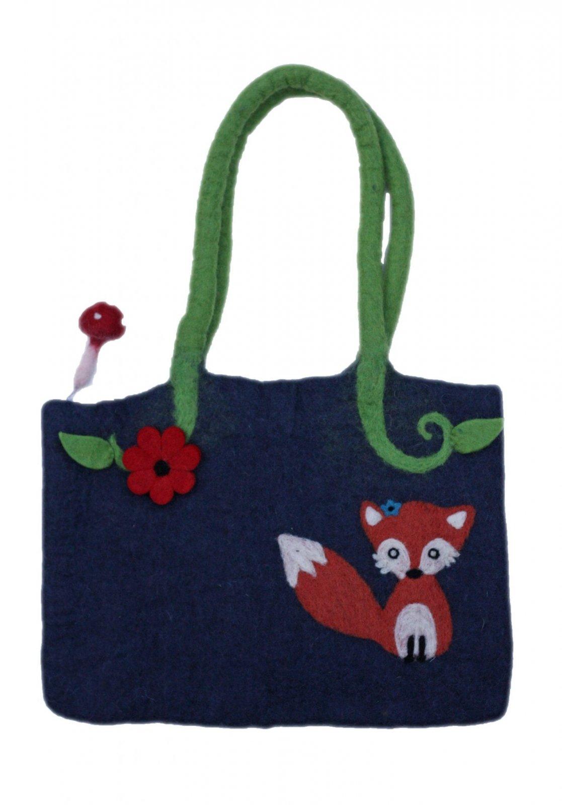 Frabjous Fibers Felted Knitting Bag - Fox