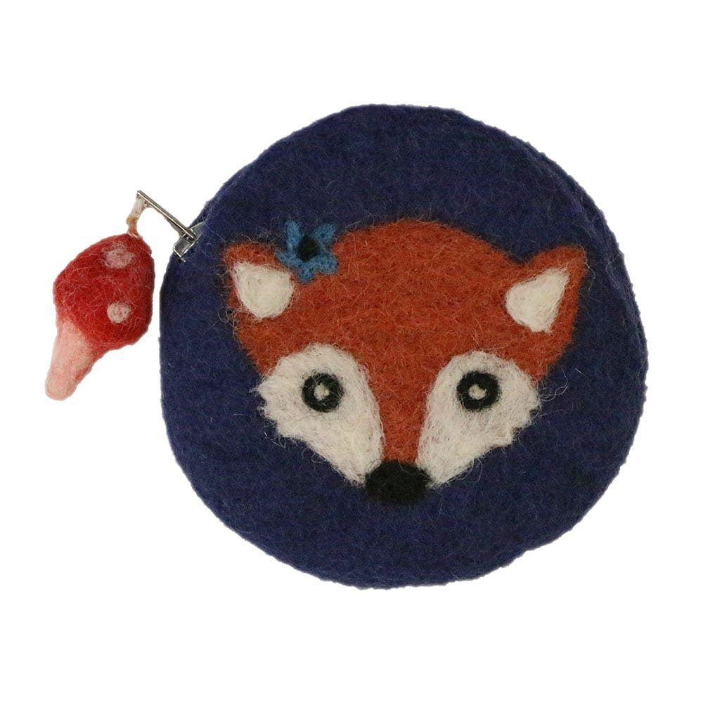 Frabjous Fibers Felted Notions Tote - Foxy with Navy