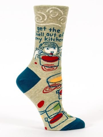 Blue Q Women's Socks - Get the Hell Out of My Kitchen