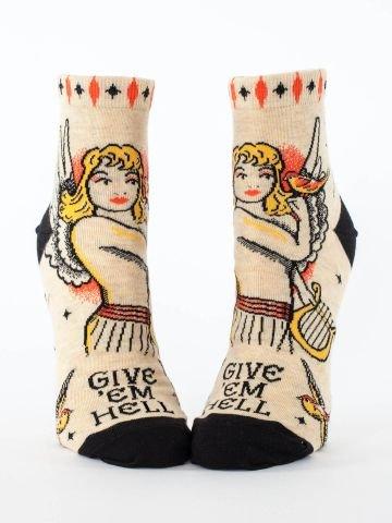 Blue Q Women's Ankle Socks - Give 'Em Hell