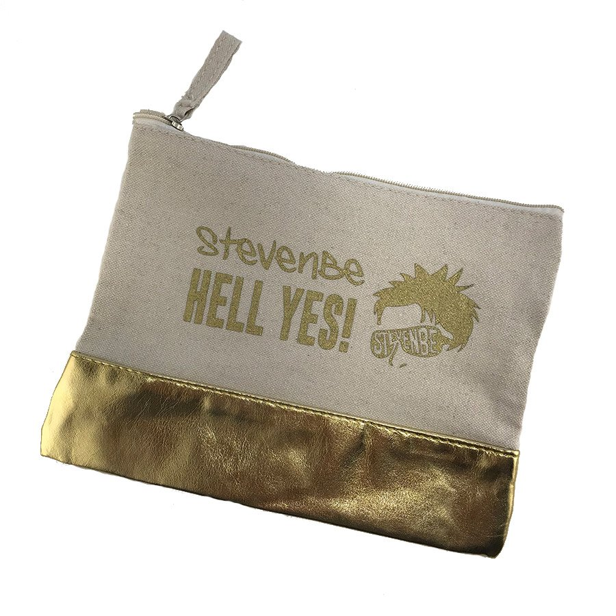 Gold Notions Pouch - StevenBe Hell Yes!