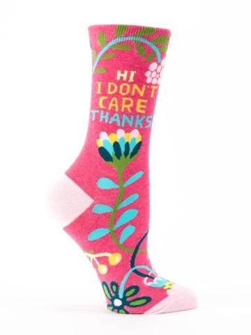 Blue Q Women's Socks - Hi! I Don't Care