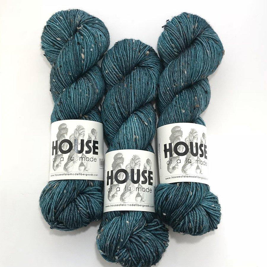 House Of A La Mode Tweed DK - Broody Blue