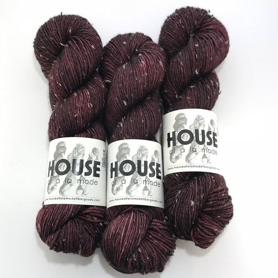 House Of A La Mode Tweed DK - Cranberry