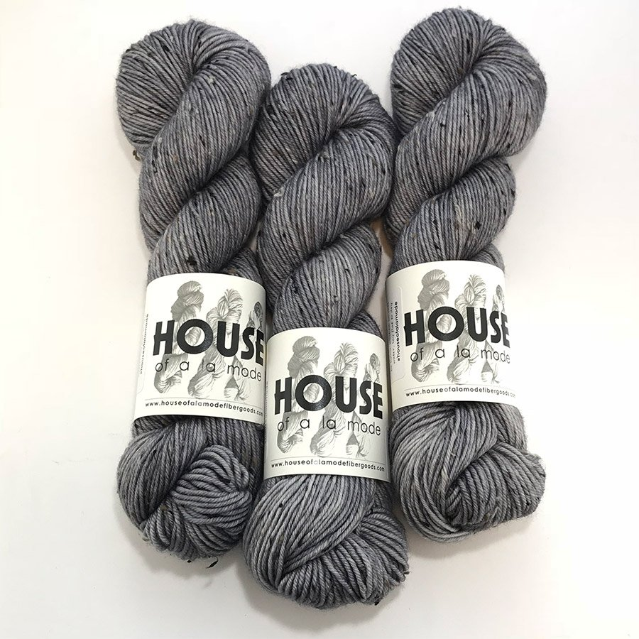 House Of A La Mode Tweed DK - Pewter