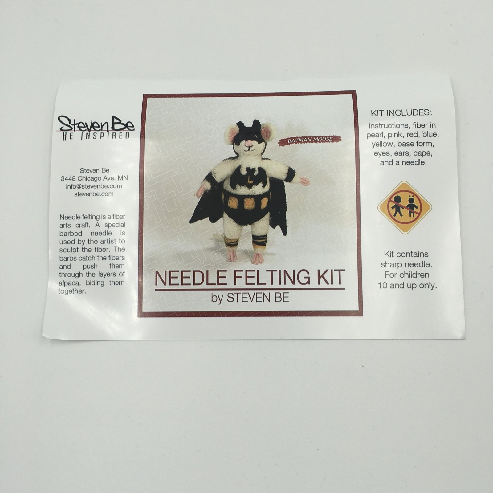 StevenBe Needle Felting Kit - Batman Mouse
