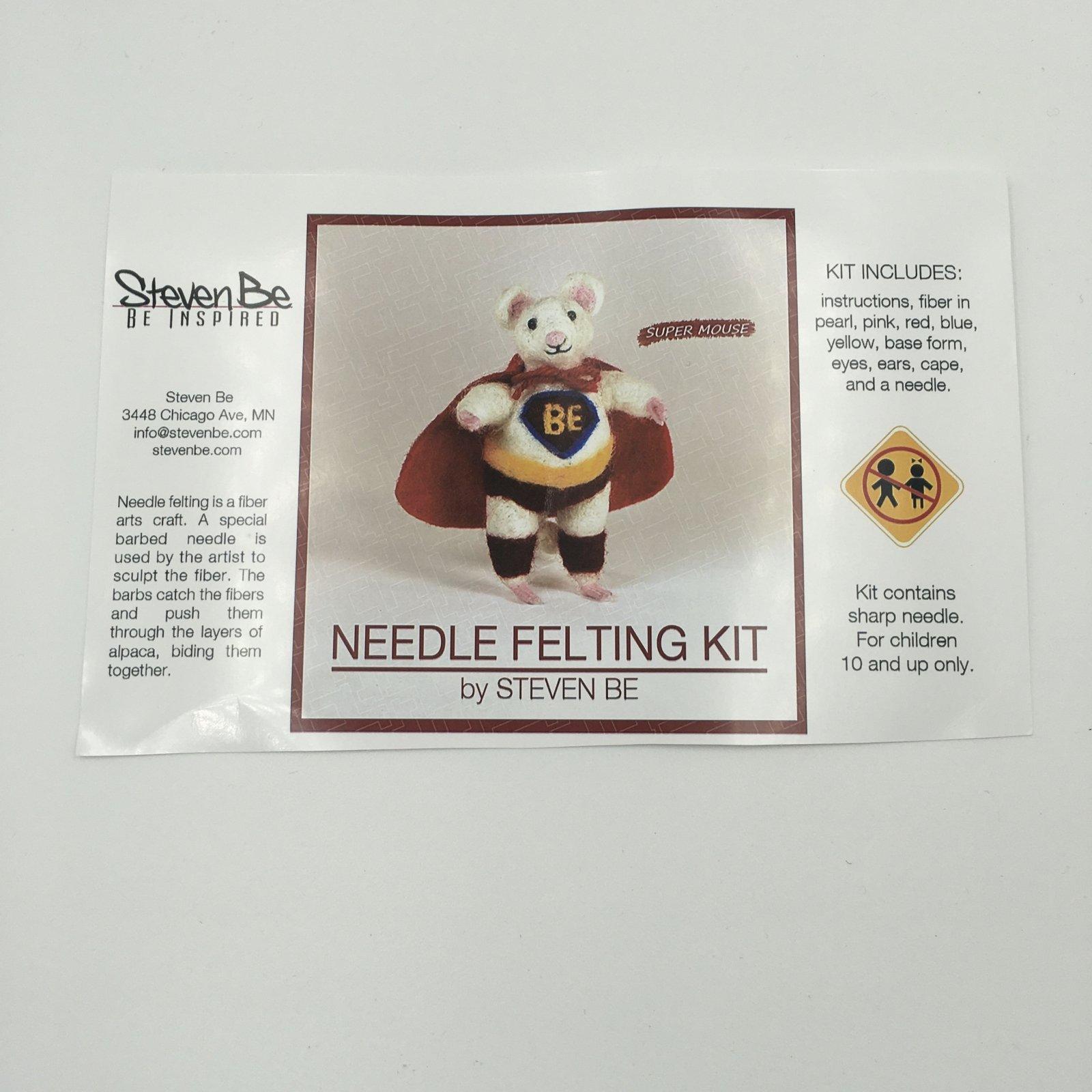 StevenBe Needle Felting Kit - Super Mouse