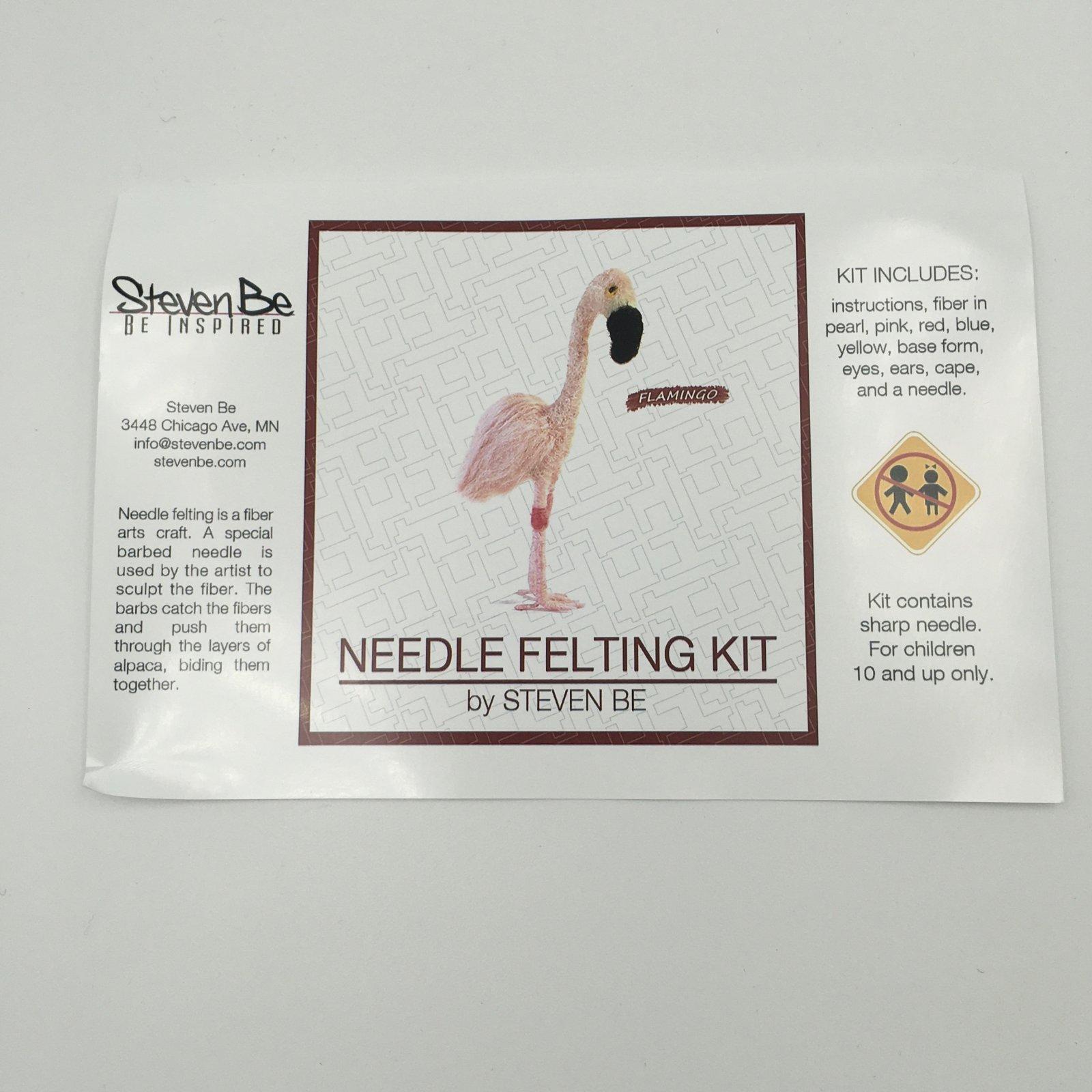 StevenBe Needle Felting Kit - Flamingo