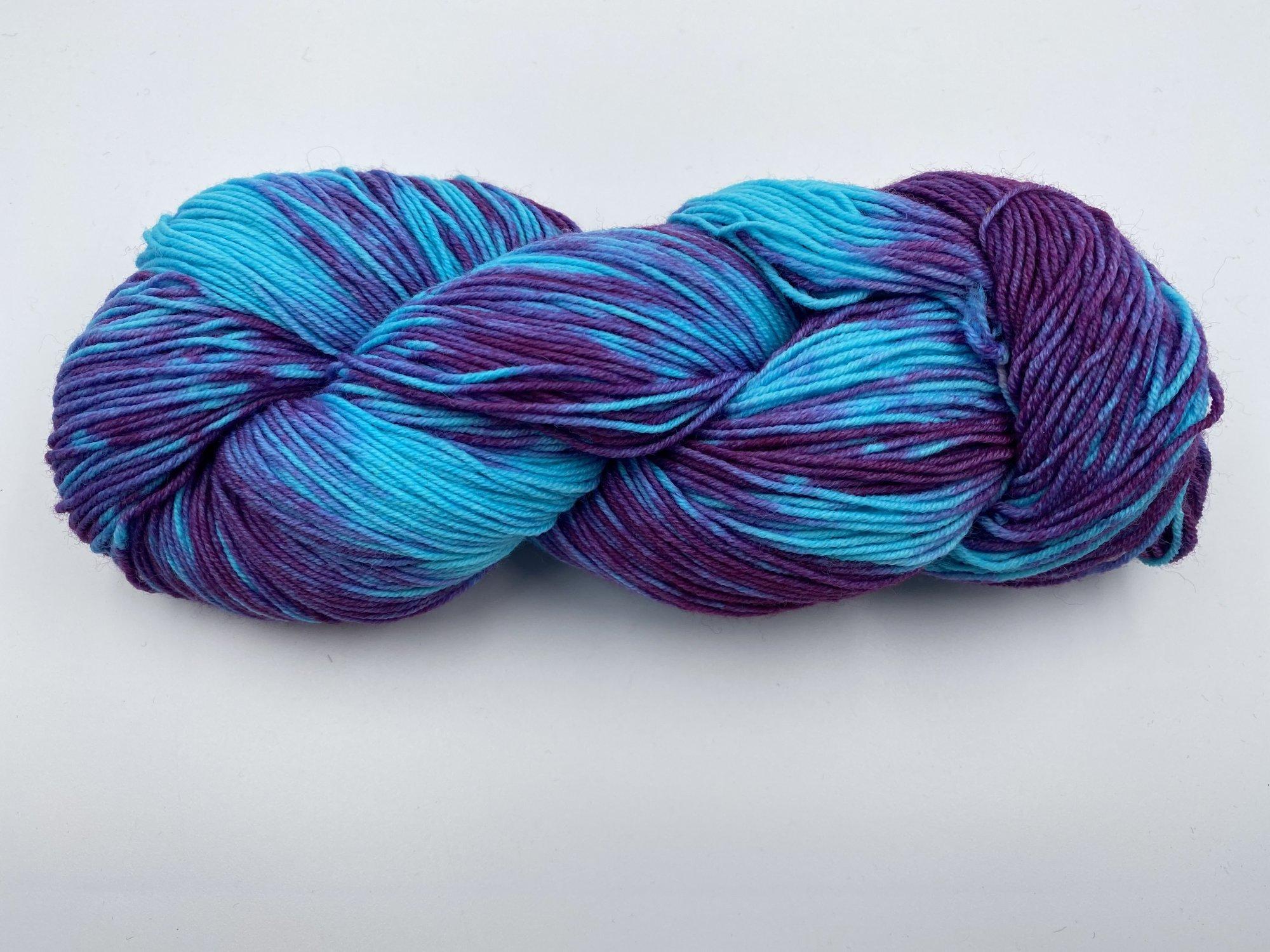 Handmaiden Fleece Artist Organic Cottage Sock - Purple Haze