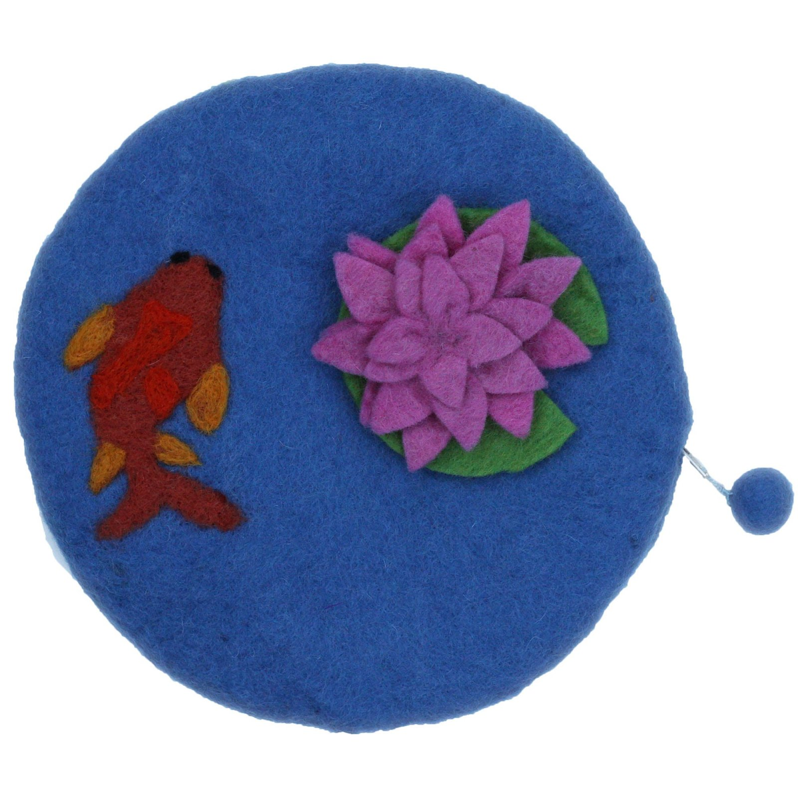 Frabjous Fibers Felted Bag - Koi Pond Dark Blue
