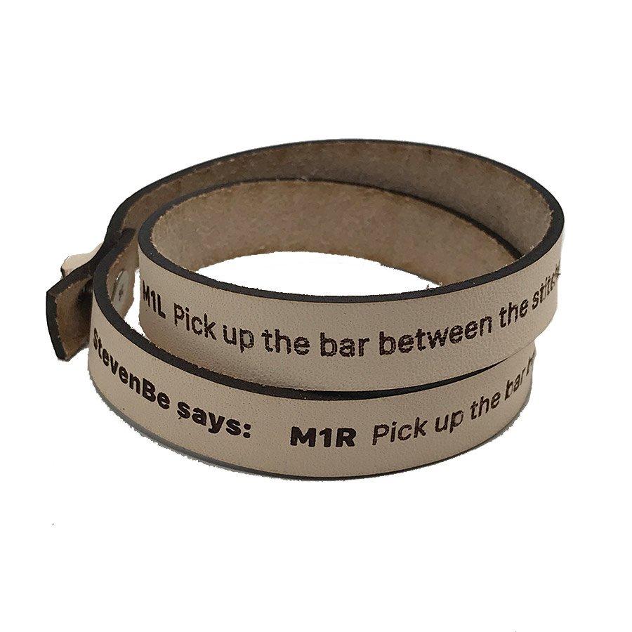 Leather Wrist Band - StevenBe M1R/M1L 16