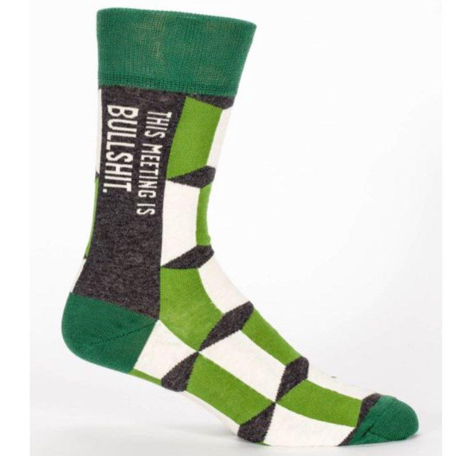 Blue Q Men's Socks - This Meeting Is Bullshit