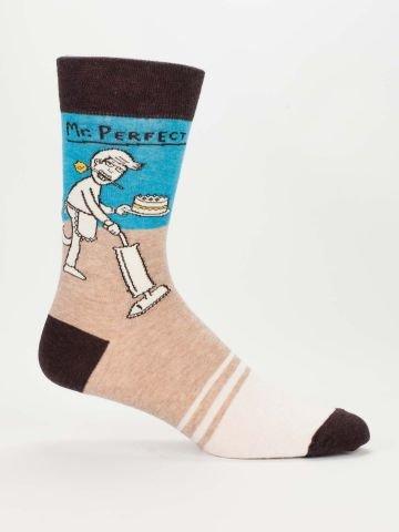 Blue Q Men's Socks - Mr. Perfect
