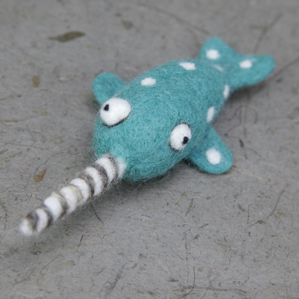 Woolbuddy Felting Kit Small - Narwhal