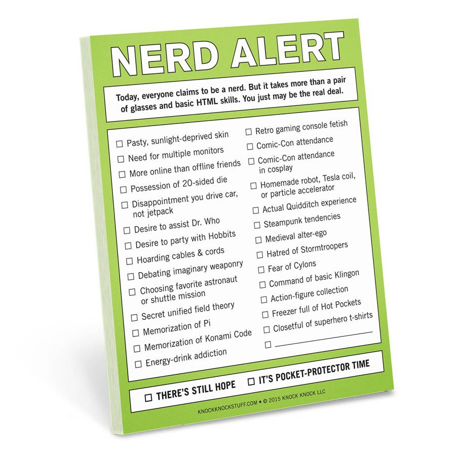 Nifty Notes Nerd Alert Notepad