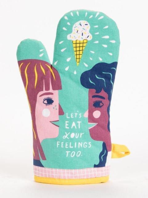 Blue Q Oven Mitt - Let's Eat Your Feelings Too