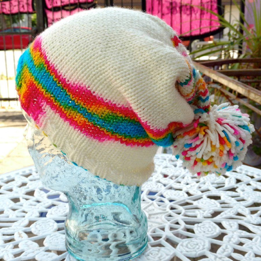 Beginner Series Perfectly Pooled Hat Pattern - PDF