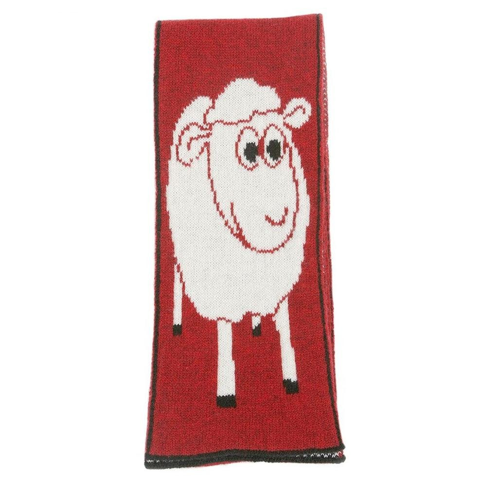 Lothlorian Wooly Sheep Scarf - Red