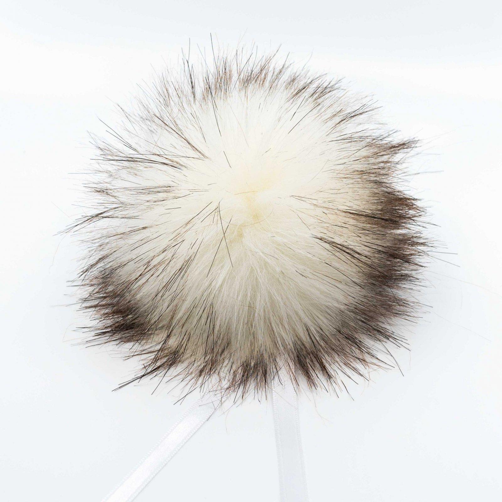 Ikigai Faux Raccoon Pom Pom - Siamese