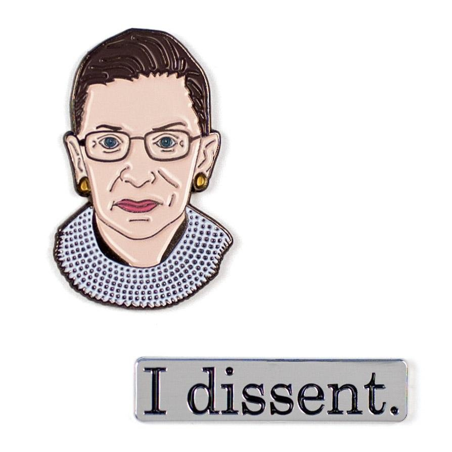 Unemployed Philosophers Pins - RBG & I Dissent