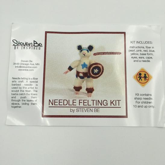 StevenBe Needle Felting Kit - Captain America Mouse
