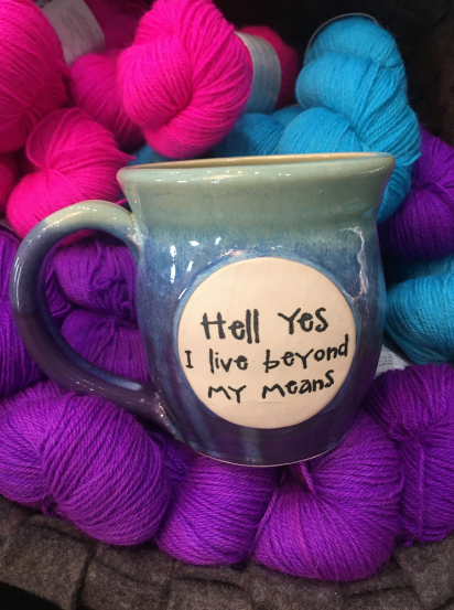 Pawley Mug - Hell Yes I Live Beyond My Means