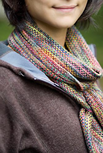 Linen Stitch Scarf by Churchmouse Yarns and Teas