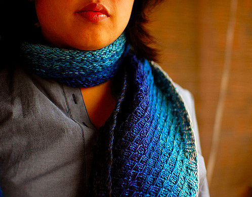 Dipped Infinity Scarf by Laura Chau