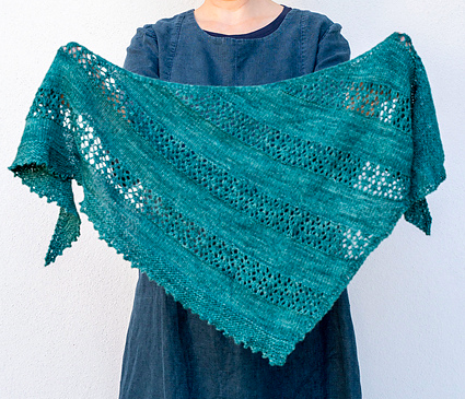 Rainforest Canopy Shawl by Helen Stewart