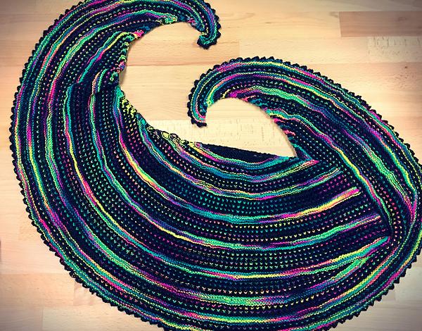 Rainbow Warrior Shawl by Casapinka