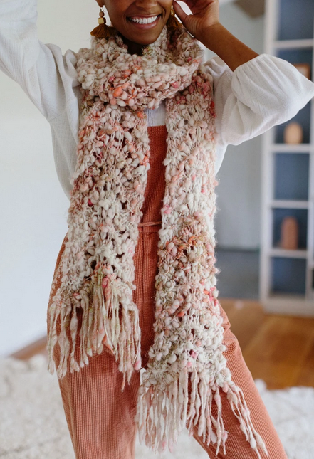 Wavy Feather Scarf by Amy Small
