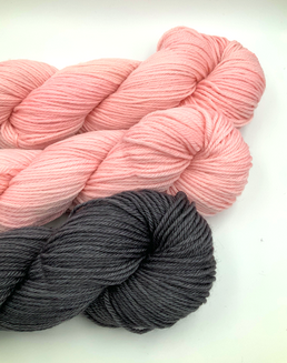 Pink Graphite Shawl Kit Designer Melanie Rice