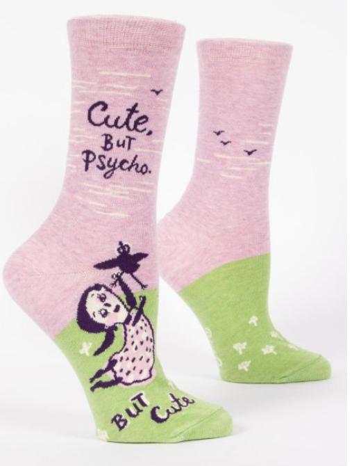Blue Q Women's Socks - Cute, But Psycho