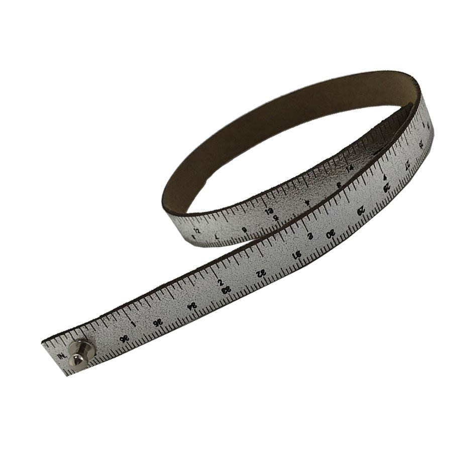 Leather Wrist Ruler - StevenBe Silver 16