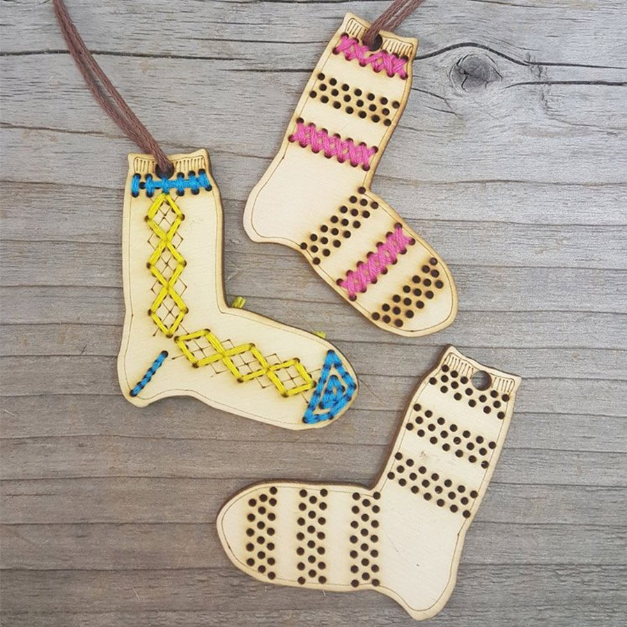 Katrinkles Ornament - Argyle Sock