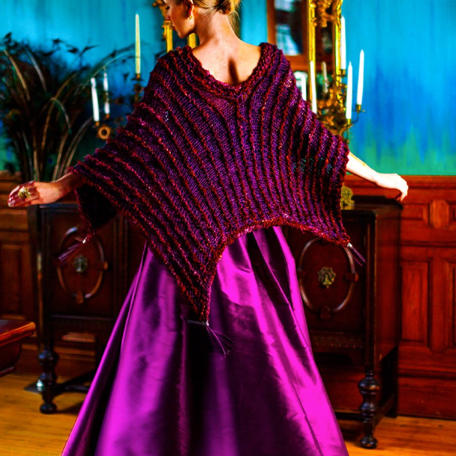 Stained Glass Poncho Pattern - PDF