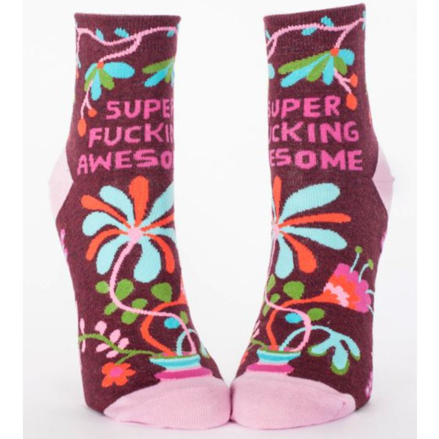 Blue Q Women's Ankle Socks - Super Fucking Awesome