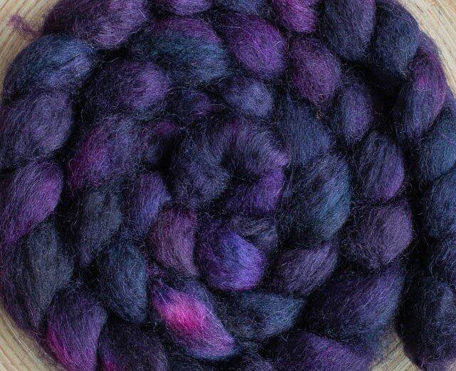 Sweetgeorgia Superwash BFL Roving - Ultra Violet