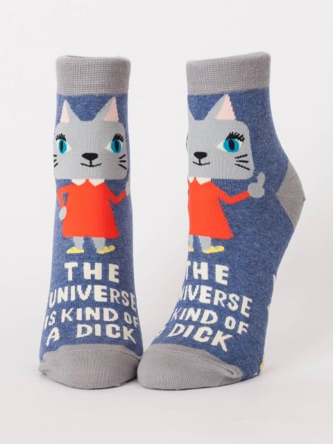 Blue Q Women's Ankle Socks -  The Universe is Kind of a Dick