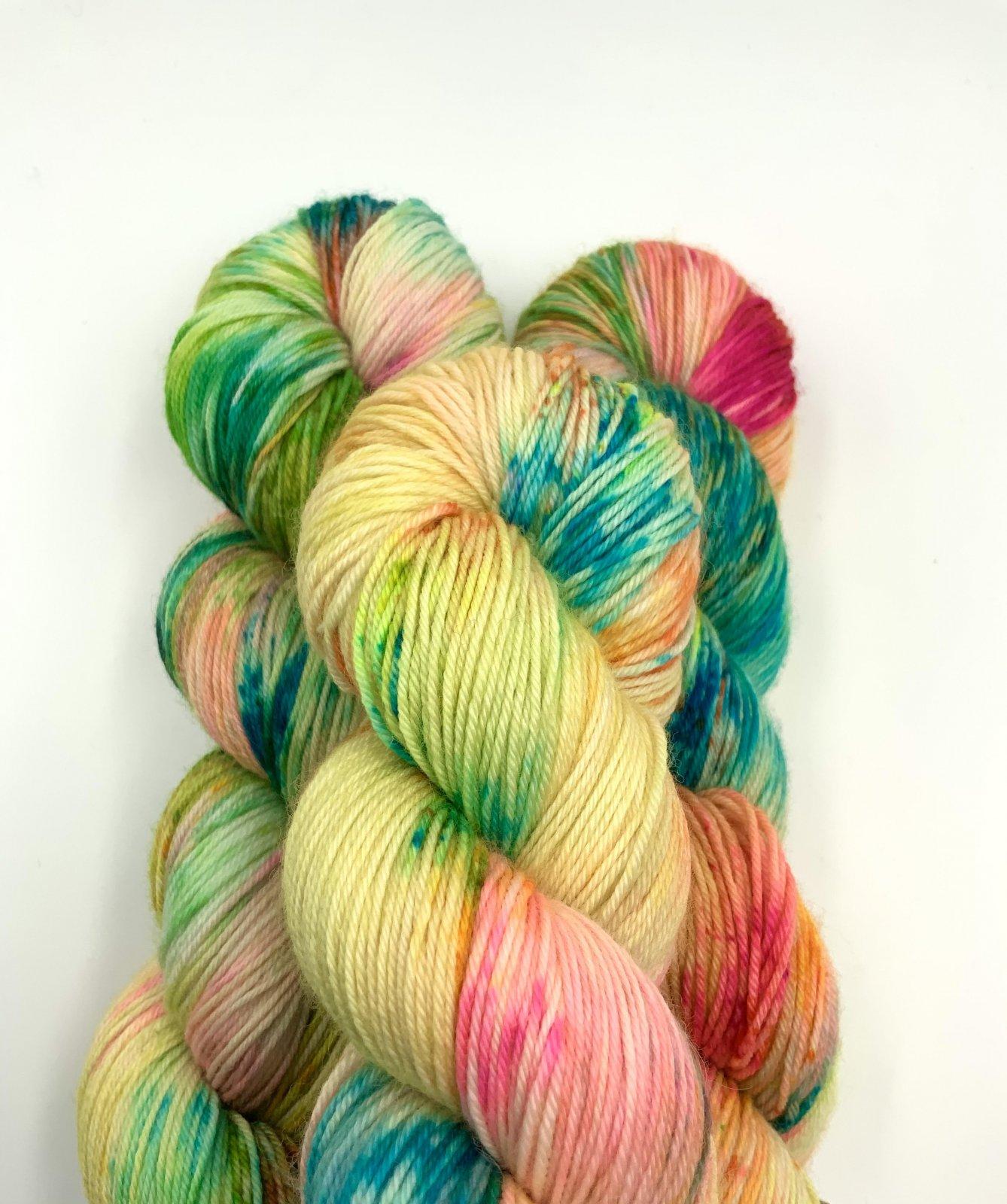 Kleur en Draad Merino 4ply Fingering - Parrot