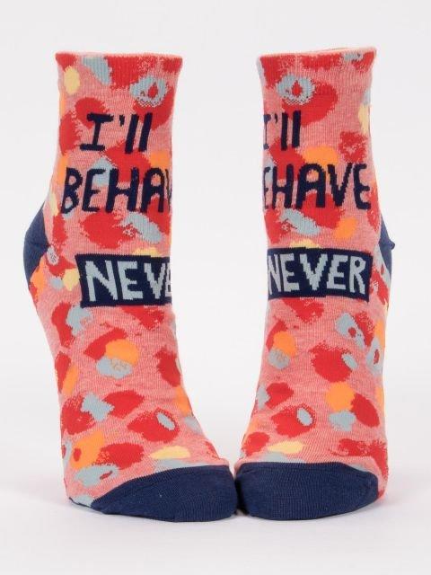 Blue Q Women's Ankle Socks - I'll Behave Never