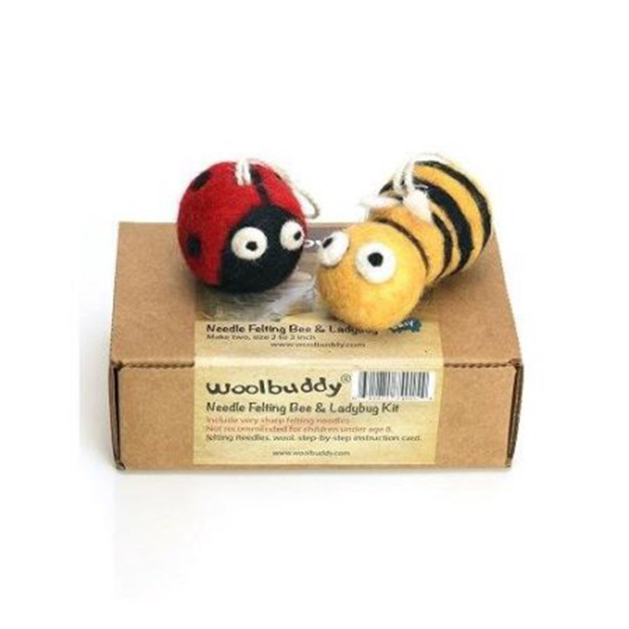 Woolbuddy Felting Kit Small - Bee & Ladybug