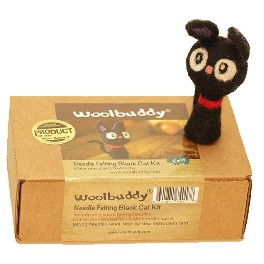 Woolbuddy Felting Kit Small - Black Cat