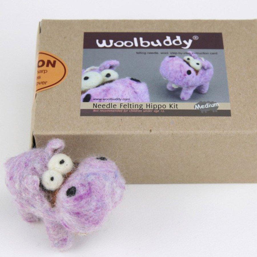 Woolbuddy Felting Kit Small - Hippo