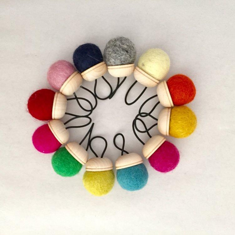 Brooklyn Haberdashery Wool Pin Cushion Ring - Various